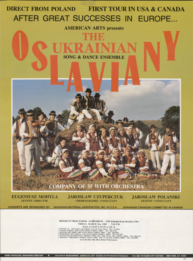 American Arts Presents The Ukrainian Oslaviany Song And Dance Ensemble Ukrainian Museum Archives Cleveland Public Library Digital Gallery