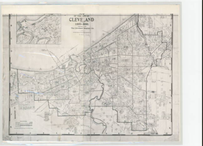 Map 1900.Map Of The City Of Cleveland For 1899 1900 Atlases Maps And Park